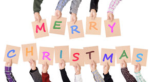 Merry Christmas placards Royalty Free Stock Photography