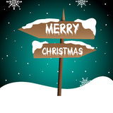 Merry Christmas pointer Royalty Free Stock Photo