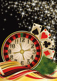 Merry Christmas Poker wallpaper Stock Images