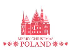 Merry Christmas Poland. Vector Illustration. illustration EPS Royalty Free Stock Photo