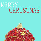 Merry christmas in a pop art style Royalty Free Stock Photo