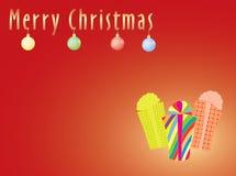 Merry Christmas postcard Royalty Free Stock Photos