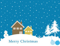 Merry Christmas Postcard Royalty Free Stock Photography