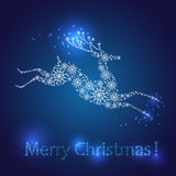 Merry Christmas postcard. Royalty Free Stock Photography