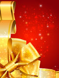 Merry christmas postcard background with gold Royalty Free Stock Photo