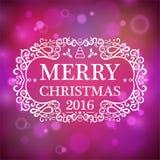 Merry Christmas 2016 Royalty Free Stock Photo
