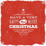 Merry Christmas Postcard Stock Images