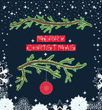 Merry Christmas postcard Stock Photo