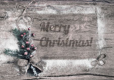 Merry Christmas postcard, toned image Royalty Free Stock Photos