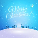 Merry Christmas postcard Stock Photos