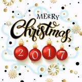 Merry Christmas 2017 poster. Stock Image