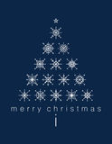 Merry Christmas Poster with Christmas tree stock illustration