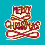 Merry christmas poster design Stock Image