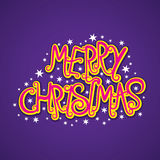Merry christmas poster design Royalty Free Stock Photography