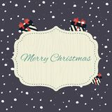 Merry Christmas poster. Flat vector illustration Royalty Free Stock Photography
