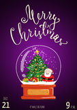 Merry Christmas Poster for Holiday Party Promo Royalty Free Stock Image
