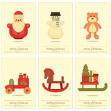 Merry Christmas Posters stock illustration