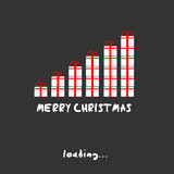 Merry christmas present concept Royalty Free Stock Images