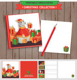 Merry Christmas printable set. Stock Photo