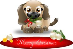 Merry Christmas puppy Royalty Free Stock Images