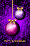 Merry Christmas purple background Stock Images