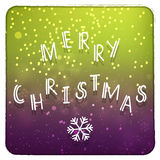 Merry Christmas purple and green invitation card Royalty Free Stock Photos