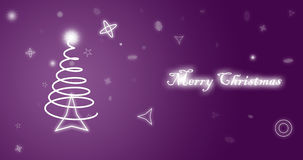 Merry Christmas purple wallpaper Stock Image