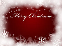Merry Christmas in red Royalty Free Stock Images