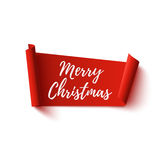 Merry Christmas, red, abstract banner. Stock Images