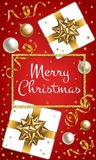 Merry Christmas Red Background Royalty Free Stock Photo
