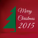Merry Christmas 2015. With red background Royalty Free Stock Photos