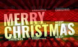 Merry christmas red background 3d render Stock Photos