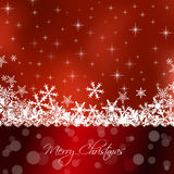 Merry Christmas red card Royalty Free Stock Images
