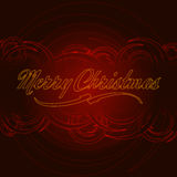 Merry Christmas with red circles Royalty Free Stock Image