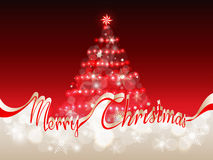 Merry Christmas red - gold background with space for text Royalty Free Stock Images