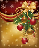 Merry Christmas red golden background Royalty Free Stock Image