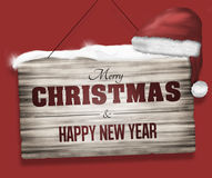 Merry Christmas red graphic design Stock Photo