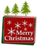 Merry Christmas Red Green Rounded Squares Royalty Free Stock Photo