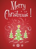 Merry Christmas red greeting card Stock Images