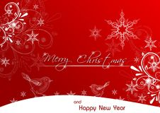 Merry Christmas red greeting card Royalty Free Stock Images