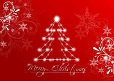 Merry Christmas red greeting card Royalty Free Stock Photos