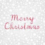Merry Christmas red poly vector illustration. Decorative grey and white gradient background with snowflakes, sparkles, lights. Merry Christmas red poly vector Stock Photos
