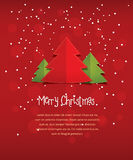 Merry Christmas red postcard vector illustration, New Year card banner Royalty Free Stock Photography