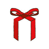 Merry christmas red ribbon bow image Stock Photo