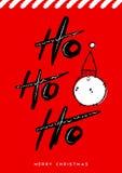 Merry Christmas red Santa Claus greeting card art Stock Image