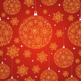 Merry Christmas red seamless pattern background. Stock Photos