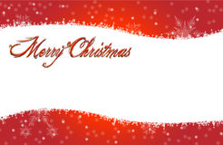 Merry Christmas Red Snowing Card Stock Image