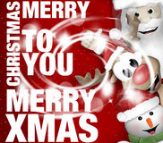 Merry Christmas Red Sparkle Design Stock Images