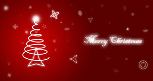 Merry Christmas red wallpaper Royalty Free Stock Photo