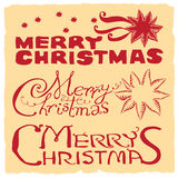 Merry Christmas red & yellow Royalty Free Stock Photos